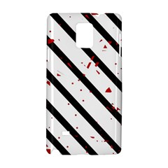 Elegant black, red and white lines Samsung Galaxy Note 4 Hardshell Case