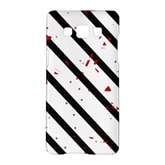 Elegant black, red and white lines Samsung Galaxy A5 Hardshell Case