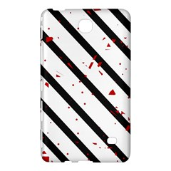 Elegant black, red and white lines Samsung Galaxy Tab 4 (7 ) Hardshell Case