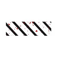 Elegant Black, Red And White Lines Satin Scarf (oblong)