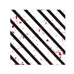 Elegant black, red and white lines Small Satin Scarf (Square)