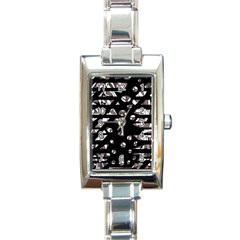 Gray abstract design Rectangle Italian Charm Watch