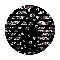 Gray abstract design Ornament (Round)