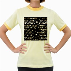 Gray abstract design Women s Fitted Ringer T-Shirts