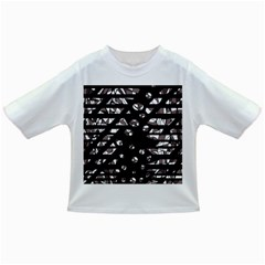 Gray abstract design Infant/Toddler T-Shirts