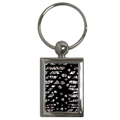 Gray abstract design Key Chains (Rectangle)