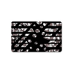 Gray abstract design Magnet (Name Card)