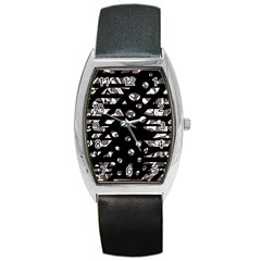 Gray abstract design Barrel Style Metal Watch