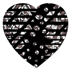 Gray abstract design Jigsaw Puzzle (Heart)