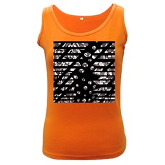 Gray abstract design Women s Dark Tank Top