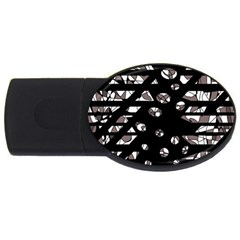 Gray abstract design USB Flash Drive Oval (4 GB)