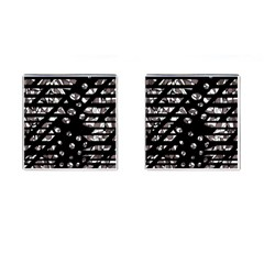 Gray abstract design Cufflinks (Square)