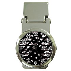 Gray abstract design Money Clip Watches