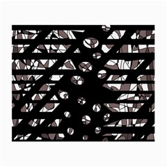 Gray abstract design Small Glasses Cloth (2-Side)