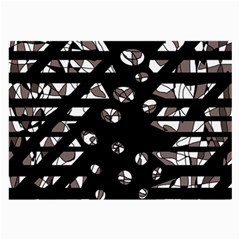 Gray abstract design Large Glasses Cloth