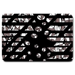 Gray abstract design Large Doormat