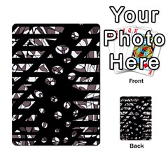 Gray abstract design Multi-purpose Cards (Rectangle)