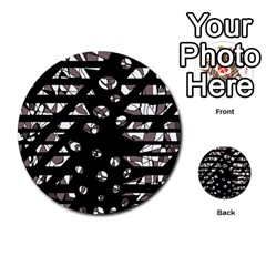 Gray abstract design Multi-purpose Cards (Round)