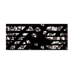 Gray abstract design Hand Towel