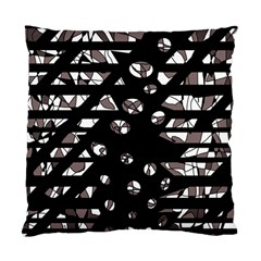 Gray abstract design Standard Cushion Case (Two Sides)