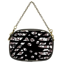 Gray abstract design Chain Purses (Two Sides)