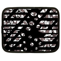 Gray abstract design Netbook Case (XXL)