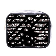 Gray abstract design Mini Toiletries Bags
