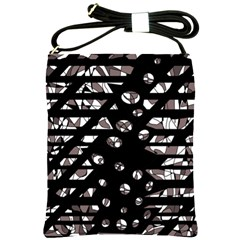 Gray abstract design Shoulder Sling Bags