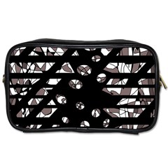 Gray abstract design Toiletries Bags