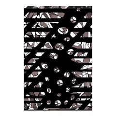 Gray abstract design Shower Curtain 48  x 72  (Small)