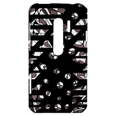 Gray abstract design HTC Evo 3D Hardshell Case