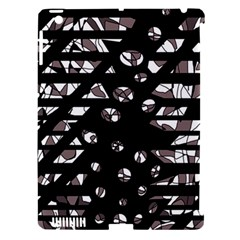 Gray abstract design Apple iPad 3/4 Hardshell Case (Compatible with Smart Cover)