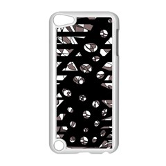 Gray abstract design Apple iPod Touch 5 Case (White)