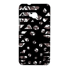 Gray abstract design HTC One M7 Hardshell Case