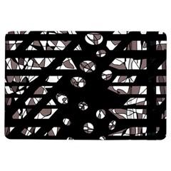 Gray abstract design iPad Air Flip