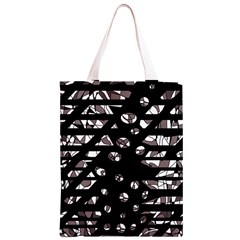 Gray abstract design Classic Light Tote Bag