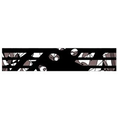 Gray abstract design Flano Scarf (Small)