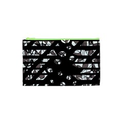 Gray abstract design Cosmetic Bag (XS)