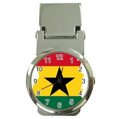 Flag Map of Ghana Money Clip Watches