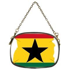 Flag Map of Ghana Chain Purses (Two Sides)