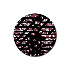 Red freedam Rubber Round Coaster (4 pack)