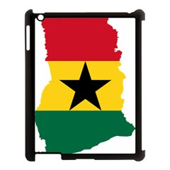 Flag Map of Ghana Apple iPad 3/4 Case (Black)