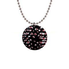 Red freedam Button Necklaces