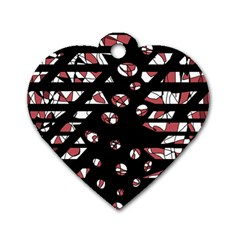 Red freedam Dog Tag Heart (Two Sides)