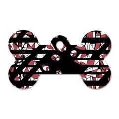 Red Freedam Dog Tag Bone (one Side)