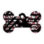 Red freedam Dog Tag Bone (One Side) Front