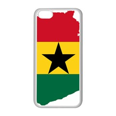 Flag Map of Ghana Apple iPhone 5C Seamless Case (White)