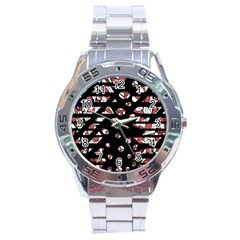 Red freedam Stainless Steel Analogue Watch