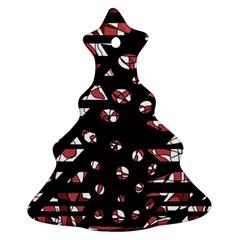Red freedam Christmas Tree Ornament (2 Sides)
