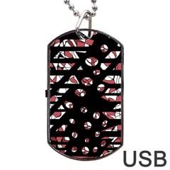 Red freedam Dog Tag USB Flash (Two Sides)